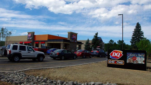 Cars line up at the drive-through at the new Dairy Queen on Hard Road. (Photo: M. Rosenberry)