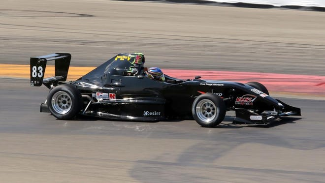 J.R. Osborne steers his Firman Formula 1000 car through Turn 1 at Watkins Glen International on Friday during qualifying for the SCCA Majors Tour.