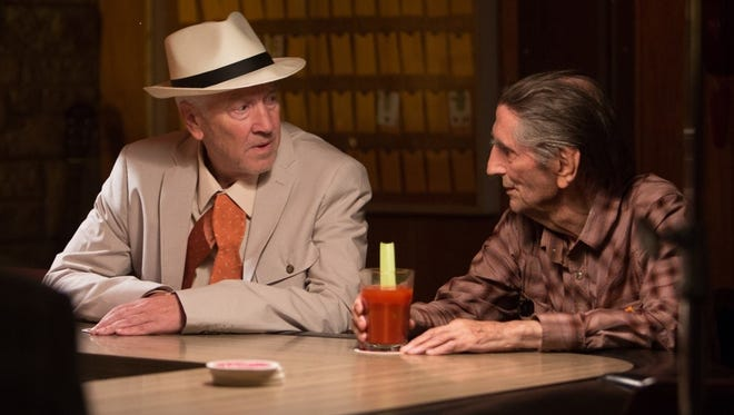 """David Lynch, left, and Harry Dean Stanton in """"Lucky,"""" which is the late Stanton's final film appearance."""