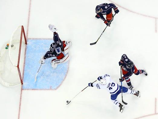 March 22: Toronto Maple Leafs center Nazem Kadri (43)
