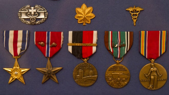 Purple Hearts Reunited return a number of World War II medals to the family of Major Anthony Sordill. The medals were found at a flea market and purchased by another veteran who made the reunion possible.Toms River, NJTuesday, November 10, 2015@dhoodhood
