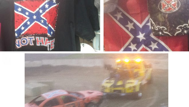 There were more than a few Confederate flags at the Jackson County Fair in Jackson, Mich. last weekend.