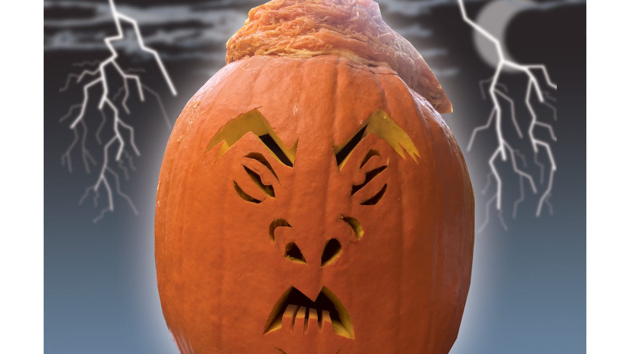Use This Stencil To Carve A Halloween Trumpkin