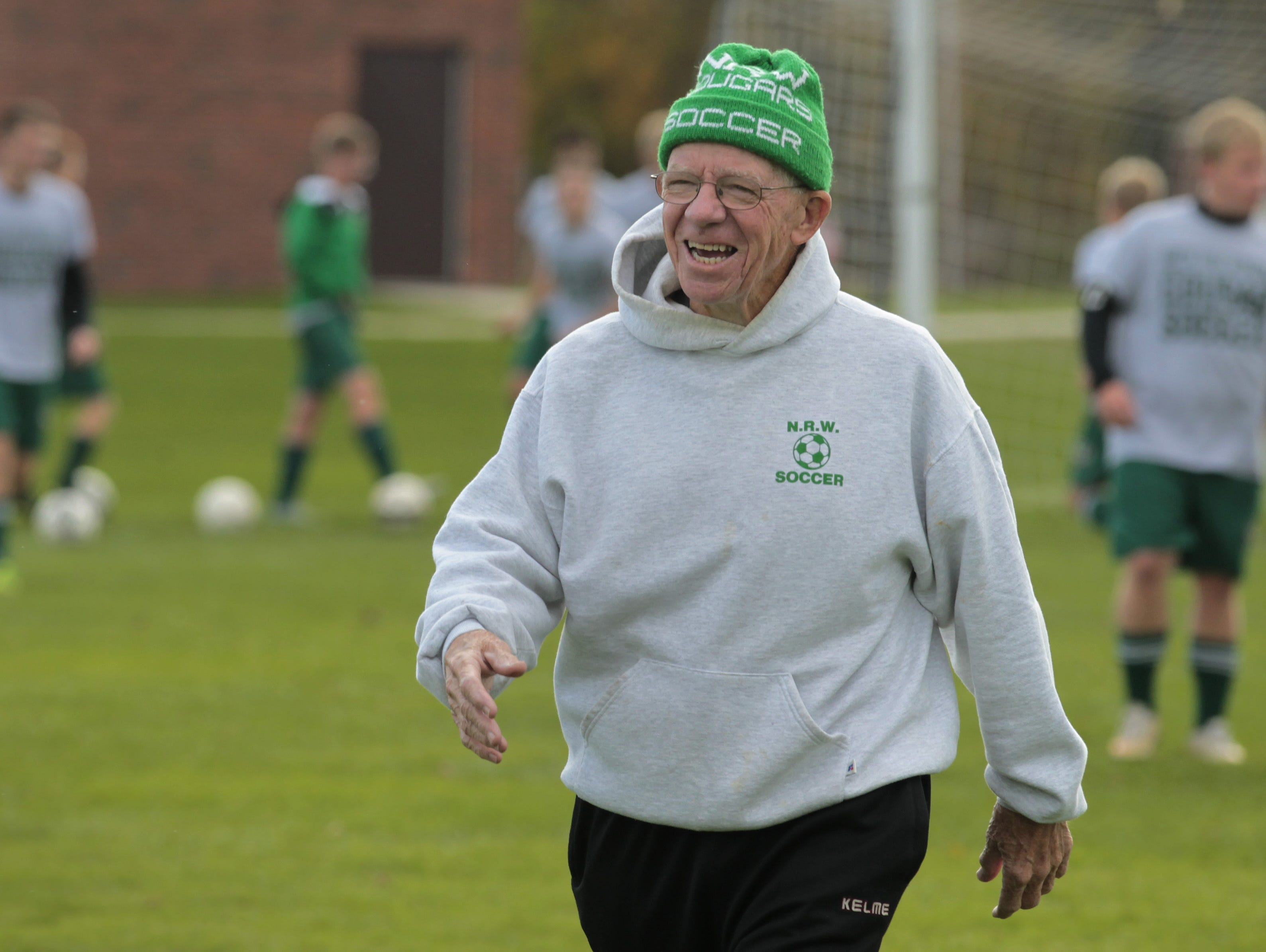 """Gordon """"Scotty"""" Martin has coached the North Rose-Wolcott boys varsity soccer team for 42 years."""