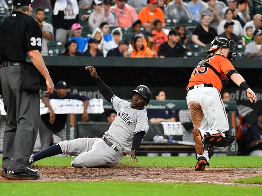Jun 2, 2018; Baltimore, MD, USA; New York Yankees shortstop