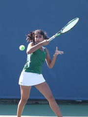 Sycamore's Harsitha Kalaiarasan competes during  the