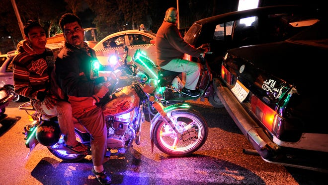 Motorcycle owners would be able to attach colored lights to their bikes.