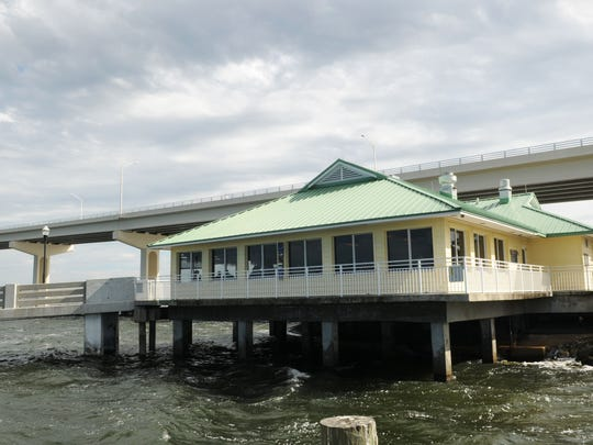 Crackerjacks Seafood and Tiki Bar is at the pier next
