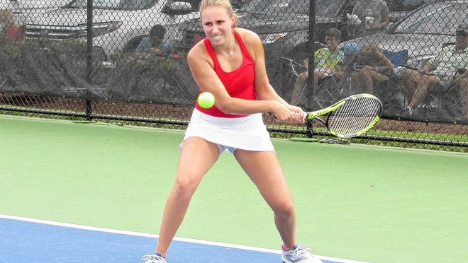 Senior Isabella Roscoe is among the top returnees for the Watterson girls tennis team and ninth-year coach Susan Weil. Watterson will play host to the Eagle Invitational on Sunday, Aug. 23.
