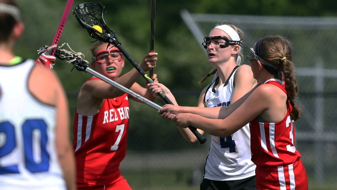Bronxville defeated Red Hook 17-4 in a girls lacrosse state regional playoff game at Fox Lane High School in Bedford May 27, 2015.