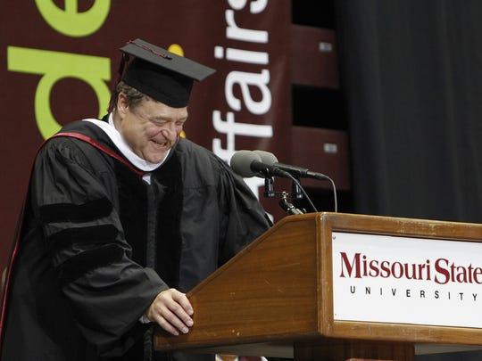John Goodman at Missouri State University's freshman convocation in 2013.