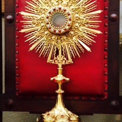 The Monstrance of St. John de Vermilionville rests