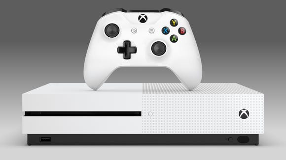 The Xbox One S can also play 4K Blu-ray discs.