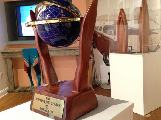 Among the artifacts featured in the Hobgood exhibit at Florida Surf Museum will be several world tour trophies, earned during the brothers' two decades competing on surfing's world tour.