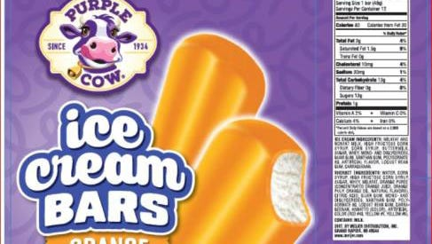 Purple Cow ice cream bars sold at Meijer have been recalled.