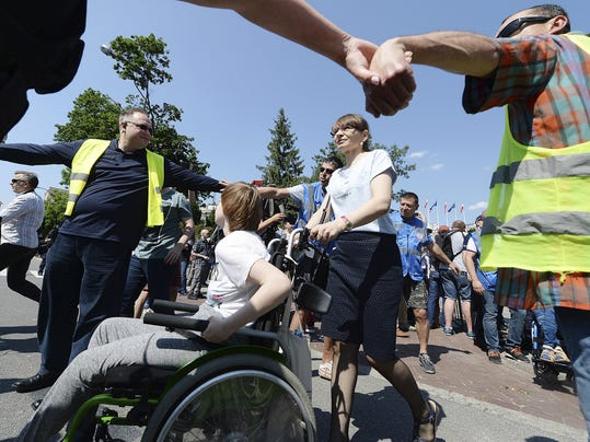 Poland Disabled Protest