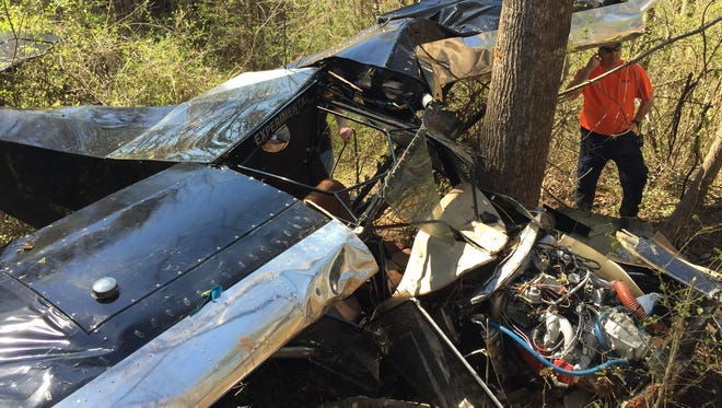 Two people were injured in a small plane crash Tuesday afternoon in Oconee County, Fire Chief Charles King said.