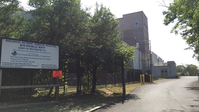 The entrance to the New Rochelle Sewer District Waste Water Treatment Plant on Sept. 1, 2015.