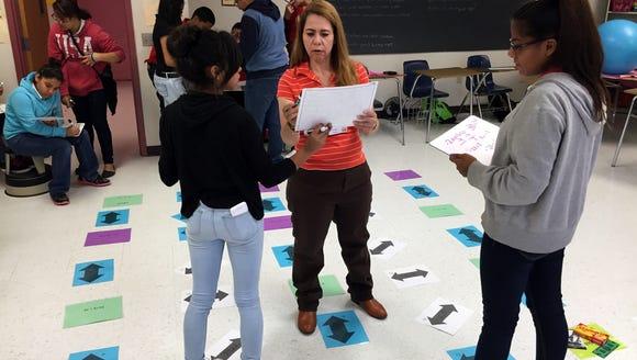 Tornillo Junior High School eighth-grade math students