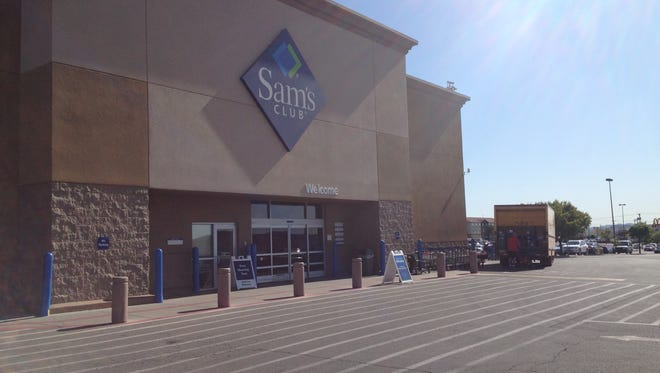 Sam's Club as seen on Friday shortly after a stabbing occurred in front of the building.