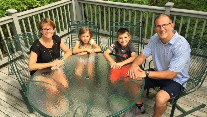 From left are Andrea Farley, daughter, Margot, son, Grant, and husband, Paul Carriere.