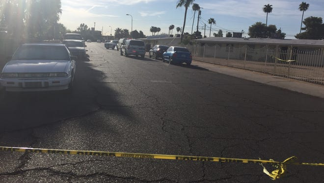 Police blocked off several blocks of west Heatherbrae Drive near 22nd Avenue in Phoenix on July 23, 2016, while they investigated a shooting.