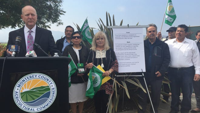 On Monday, Monterey County's Agricultural Commissioner Eric Lauritzen, and the Farmworker Advisory Committee  announced a pesticide pilot initiative.