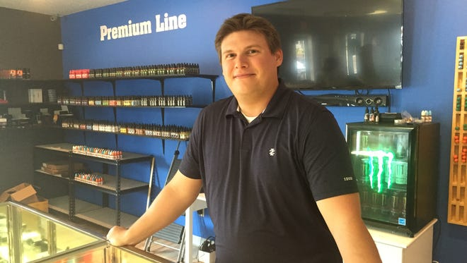 Nathan Welton, owner of I Smoke Vapor on North Earl Avenue, said Indiana's new vaping laws makes his profit margins smaller, but he says he can sustain his business.