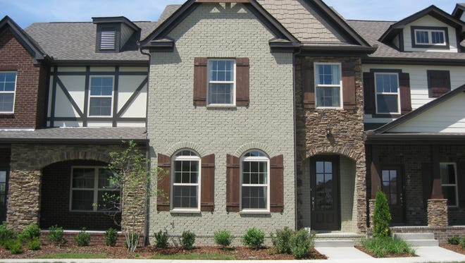 A townhome model inside the Shadow Green Townhomes subdivision.
