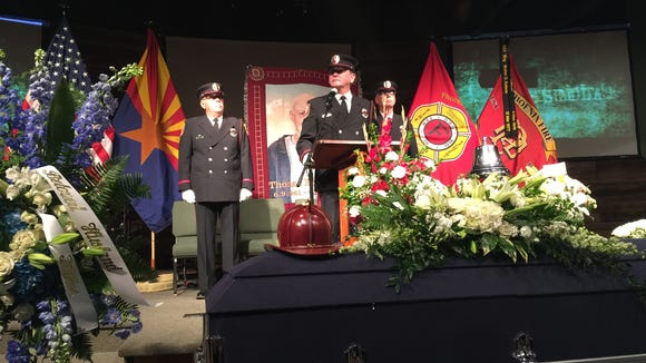 Funeral of Thomas Hall, a retired Phoenix firefighter