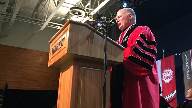 David Yellen is inaugurated as Marist College's fourth president Saturday afternoon at the McCann Arena.