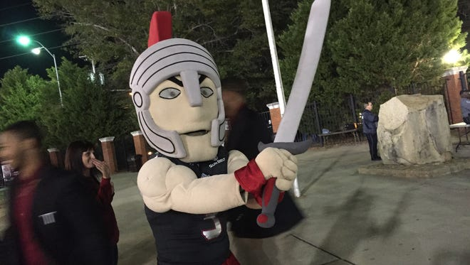 Troy's mascot was ready and raring to go well before kickoff late Thursday night against Arkansas State.