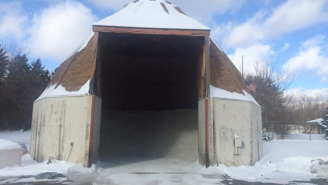 The city of Brighton stores 400 tons of rock salt in its salt dome for use during the winter months.