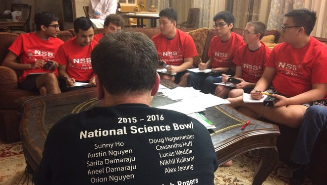 Ray High School's Science Bowl teams prepare for this year's regional competition. The A and B teams will compete Saturday in this year's regional Science Bowl in Edinburg. Others teams from Baker Middle School and Seashore Middle Academy also will compete.