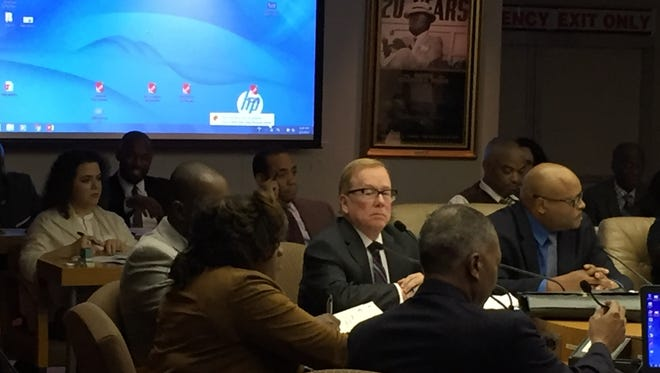 La,rry A. King addresses Detroit City Council Feb. 7, 2017 concerning his human resources consultant work.