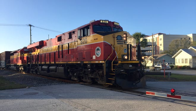 A man in Titusville was killed after being struck by a train early Saturday morning, officials said. (File photo)
