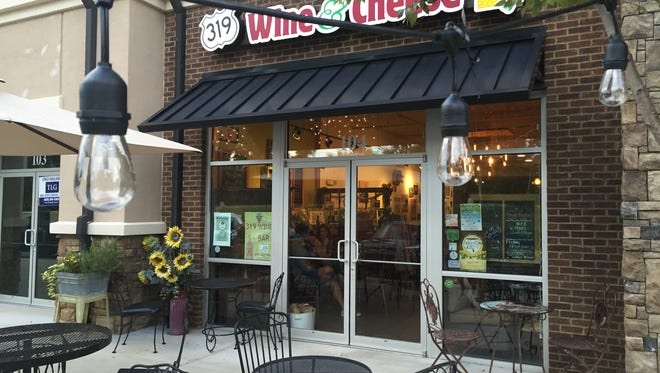 Sample wine and cheese for brunch at 319 Wine and Cheese.
