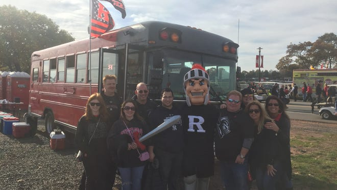 For 15 years, this group of childhood friends and football teammates from East Brunswick have gathered with family and friends to cheer on the scarlet and black at Rutgers football games. Three years ago, they added the appropriately colored Rutgers Bus to their tailgate.