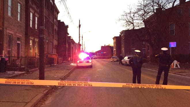 Cincinnati police investigate a shooting near the intersection of Findlay and Linn streets in the West End.