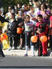 The annual KLAQ Halloween Parade starts at 3:30 Monday