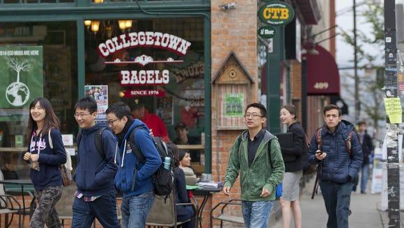 "Ithaca's Collegetown neighborhood is a ""walker's paradise"""