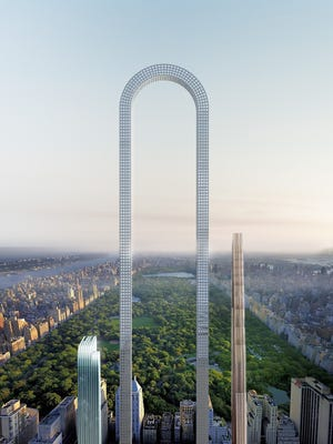 If constructed, The Big Bend would be the world's 'longest' building, Oiio Studios says.