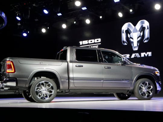 The 2019 Ram 1500 debuts at the 2018 Detroit Auto Show. The new heavy-duty version of the Ram will be revealed at the 2019 show.
