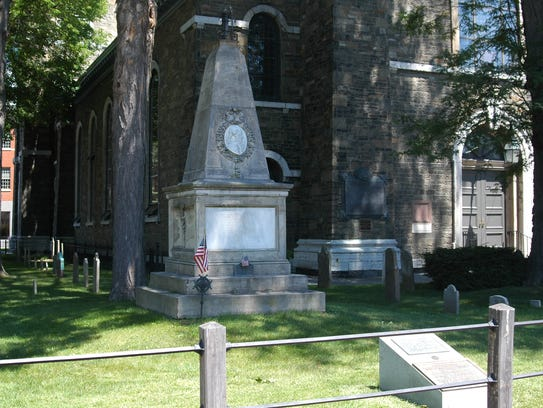 The grave of New York's first governor and the fourth