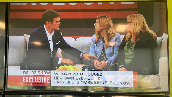 Kaylee Muthart, an Anderson woman who gouged out her own eyes, appeared on 'The Dr. Oz Show' Thursday, May 10, 2018.
