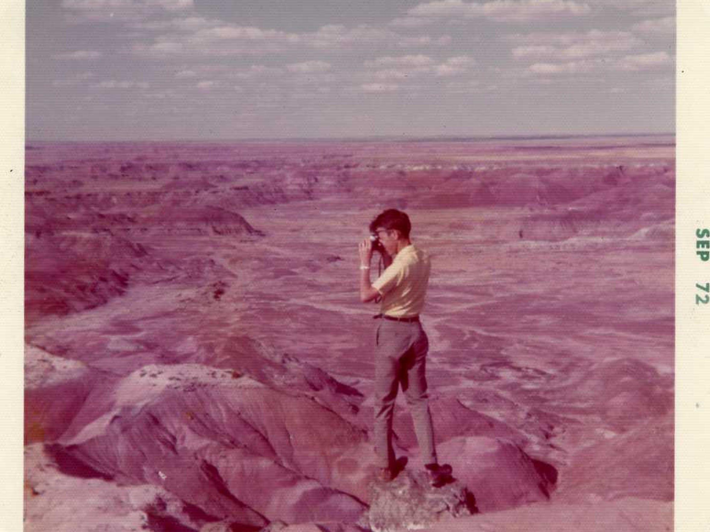 Kujawa takes slides of Painted Desert, Arizona, in