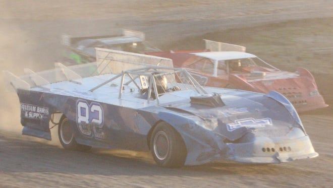 Gil Pickett (82) of Salem races at Willamette Speedway.