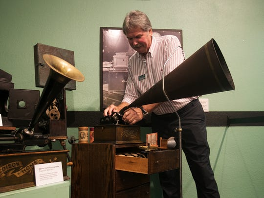 John Kurdyla, a guest curator and phonograph collector