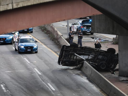 Car accident on the Bronx River Parkway