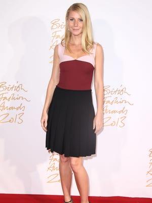 Gwyneth Paltrow poses at the 2013 British Fashion Awards.